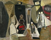 figures in a street by david messer