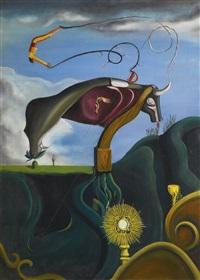 toro y torero (composition au taureau) by oscar domínguez