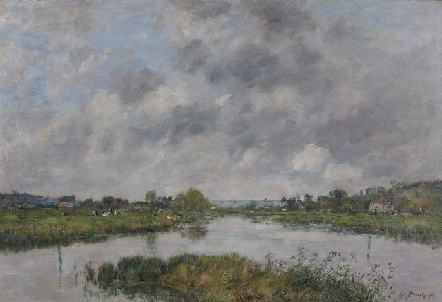 la rivière morte à deauville by eugène boudin