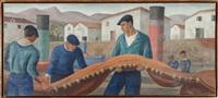 les pêcheurs au port by ramiro arrue