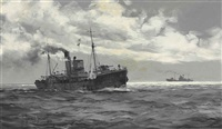 minesweepers on patrol by montague dawson