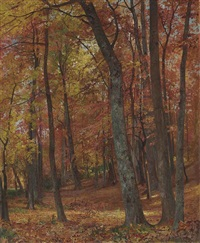 forest interior by william trost richards
