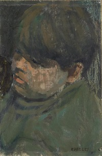 boy's head study by joan kathleen harding eardley