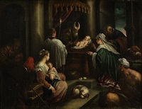 the presentation in the temple by francesco bassano the younger