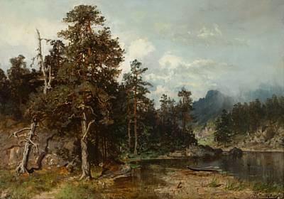 robåt på skogstjern by morten müller