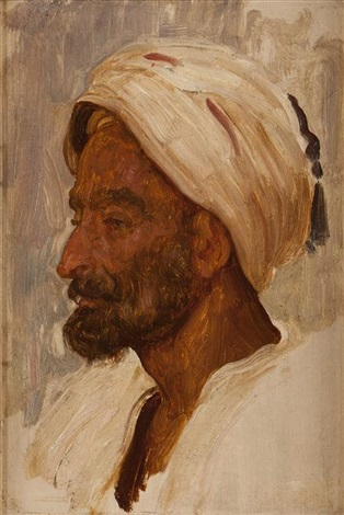 an arabs head tangier study by lord frederick leighton
