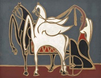 caballos alados by oscar domínguez