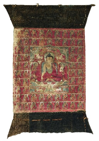 a thangka of buddha shakyamuni tibet c 14th century