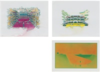 palais garnier; opera bastille; terminal (after warhol) (3 works) by guillermo kuitca