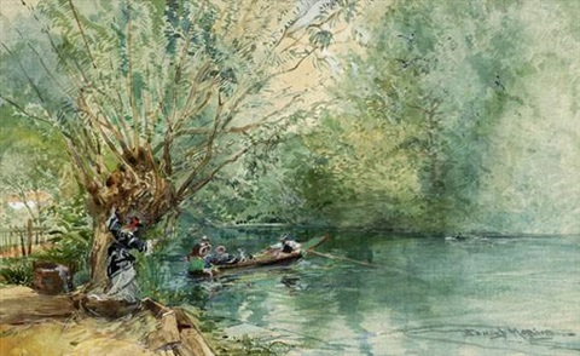 promenade en barque by edmond morin