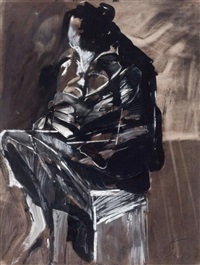 untitled (seated figure) by jan stussy
