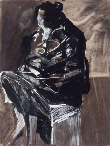 untitled seated figure by jan stussy