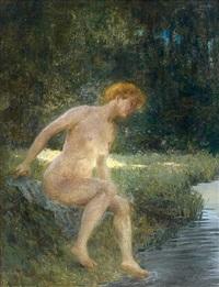 baigneuse by albert auguste fourié