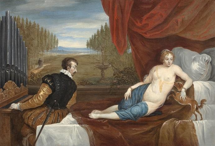 venus mit hund und organist by titian tiziano vecelli