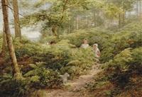 the woodland path by james aumonier