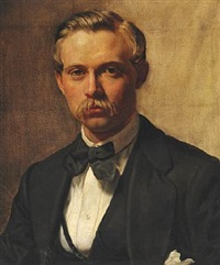 portrait of p. s. krøyer's half brother and cousin vilhelm born by peder severin krøyer