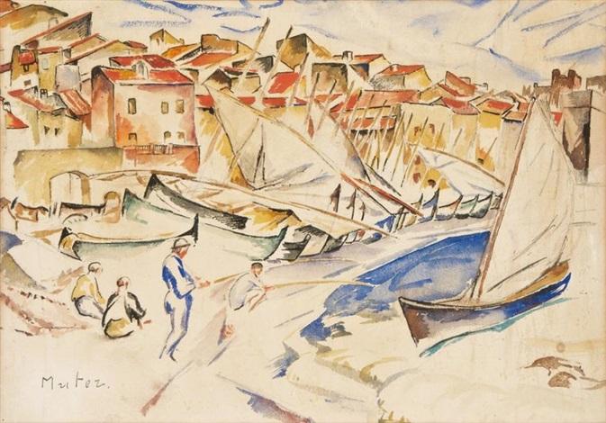 pêcheurs et voiliers méditerranée by maria mela muter