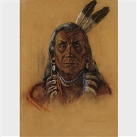 chief eagle plume by nicholas de grandmaison