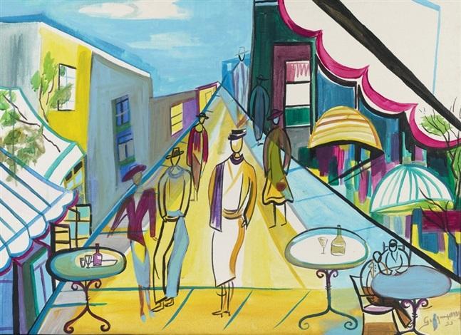 Terrasse De Café By Georgine Haddad On Artnet