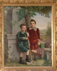 portraits de paul et joseph de brabandere by frans anseele