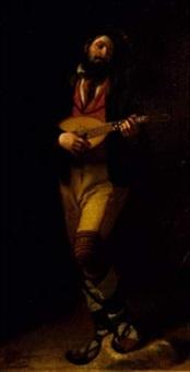 le joueur de mandoline by louis edmond pomey