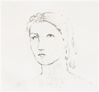 head of girl by henry moore