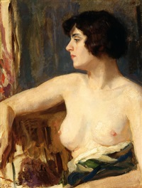 female half-nude by solomon garf