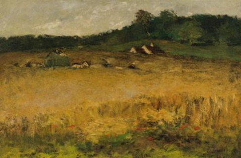 wheat field by william merritt chase
