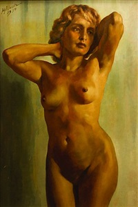 woman's nude by johann kluska