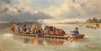 bringing the draught horses across the water by anonymous (19)