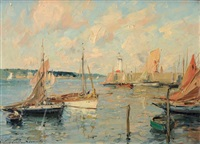 port et phare by paul emile lecomte
