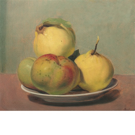 dish of apples and quinces by david johnson