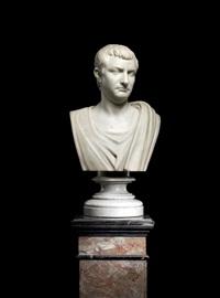 bust of a roman emperor by orazio andreoni