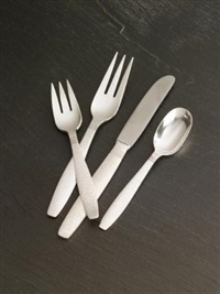swedish modern flatware service (set of 40) by allan adler