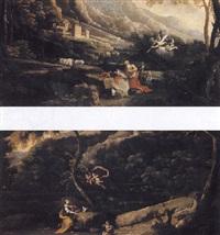 paysage de montagne avec saint jérôme by francisco collantes