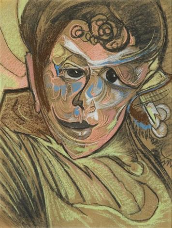 portrait of anna sinko by stanislaw ignacy witkiewicz