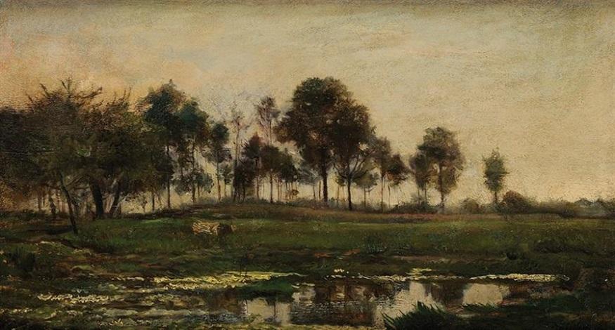 paysage à la mare by charles françois daubigny