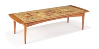 mosaic tile coffee table (model 103w) by evelyn ackerman