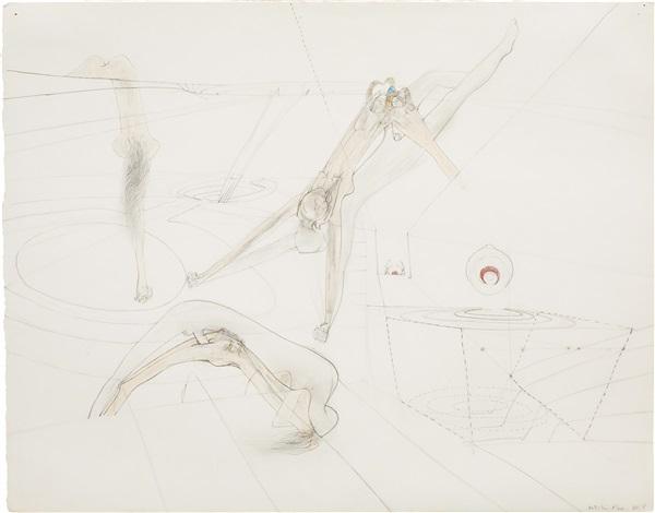 flying figures by roberto matta