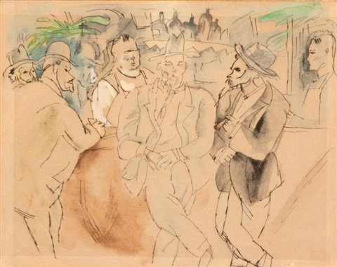 scène de bar by jules pascin