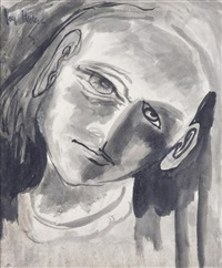 face of a girl by joy hester