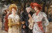 trois femmes au parc by maria (philips-weber) weber