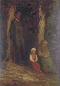 a family in the woods by robert loftin newman
