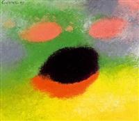 farbdramaturgie mit grün, gelb, orange und schwarz by georg jung