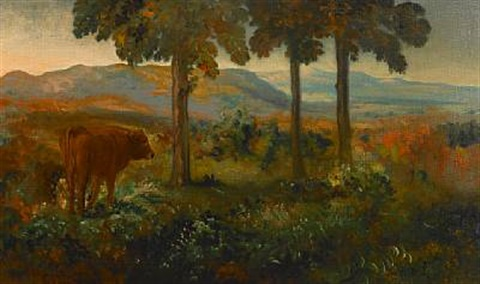 landscape at dusk by arthur bowen davies