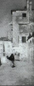 a venetian street by theodore wendel