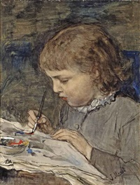 de jonge artiste: the young artist by jacob henricus maris