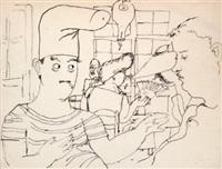 dessins (w/11 works) by jean cocteau