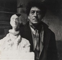 giacometti in his studio by michel sima