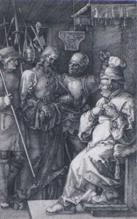 christ before caiaphas by albrecht dürer